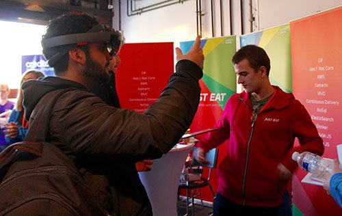 student-at-just-eat-stand-hololens-ar