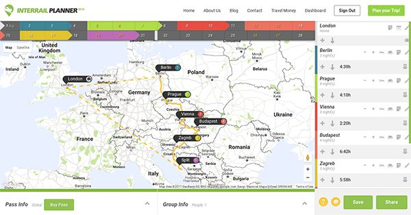 profile interrail planner the web app that brings your interrail
