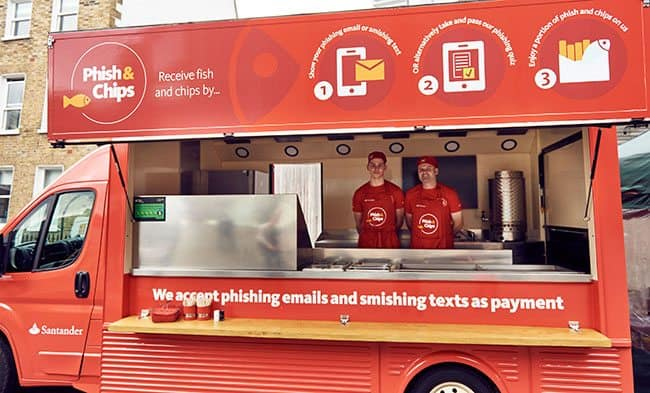 Picture of Santander Phish and chips van