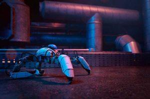 The Mekamon gaming robot from Bristol-Based robotics company Reach Robotics