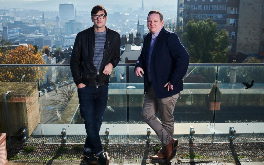 deep tech investors science creates ventures, on the left is Dr Harry Destecroix